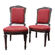 Pair of 19th Century French Antique Side Chairs