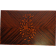 19th Century French Antique Inlaid Floral Panel