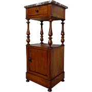 19th Century Antique Louis Philippe Period Walnut Nightstand