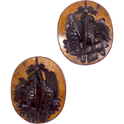 Pair of 19th Century Antique French Napoleon III Period Hunting Trophies Wall Medallions
