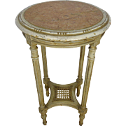 19th Century Antique French Louis XVI Style Round Side Table Gueridon