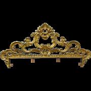 Italian Antique Wrought Iron Rococo Style Crest