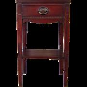 English Antique Mahogany Nightstand