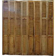 Large and Tall 19th Century Antique French Shutter Facade