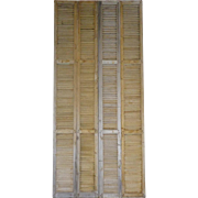 Tall Pair of Antique French 19th Century Shutters