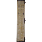 Tall 19th Century Antique French Pine Shutter