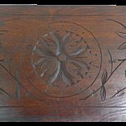 19th Century Antique Above The Door Oak Panel