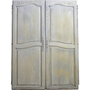 Pair of Antique French Louis XV Style Provencal Cabinet Doors