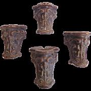 Set of 4 19th Century Antique Cast Iron Bath Tub Feet
