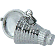 Sterling Moveable Space Capsule Charm
