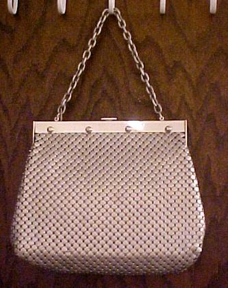 Whiting & Davis Large Aluminum Mesh Purse Handbag