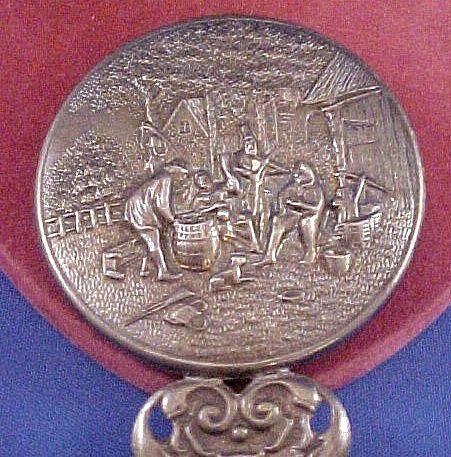 Vintage Ornate Denmark Danish Silverplate Hand Design Mirror