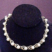 Vintage Necklace with Faux Pearls