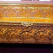 Vintage Filigree Jewelry Trinket Box