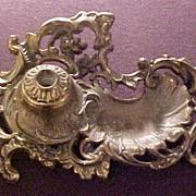 SALE Vintage Art Nouveau Gilt Metal Pen Holder