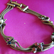 Vintage Triple Chain Slide Look Bracelet