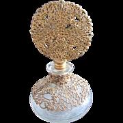 Vintage Filagree Perfume Bottle