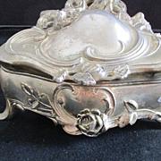 Vintage Empress Jewelry Casket