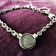 Estate Alexander the Great Coin Necklace