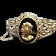 Vintage W & D Whiting & Davis Bangle Cameo Bracelet