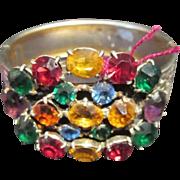Fabulous Multi Color Bangle Bracelet Vintage Jewelry
