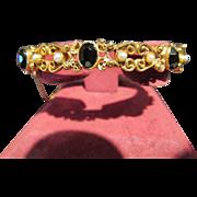 Fabulous Vintage Florenza Bangle Bracelet with Stones