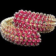 Fabulous Fifties Red Stone Bracelet