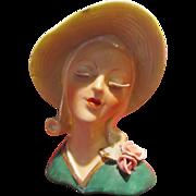 Fantastic Deco Head Vase, Headvase White Lashes