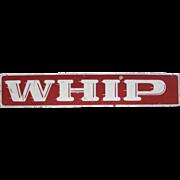 Vintage The Whip Amusement Park Ride Sign Asbury Park