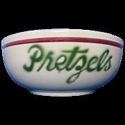 Vintage Watt Ware Pretzels bowl rare #54