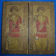 Vintage wooden golf theme glove box for women's gloves excellent condition