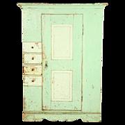 Antique Painted Schrank Cupboard