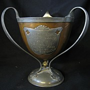 Antique Pewter and Copper Three Handle Trophy Boston