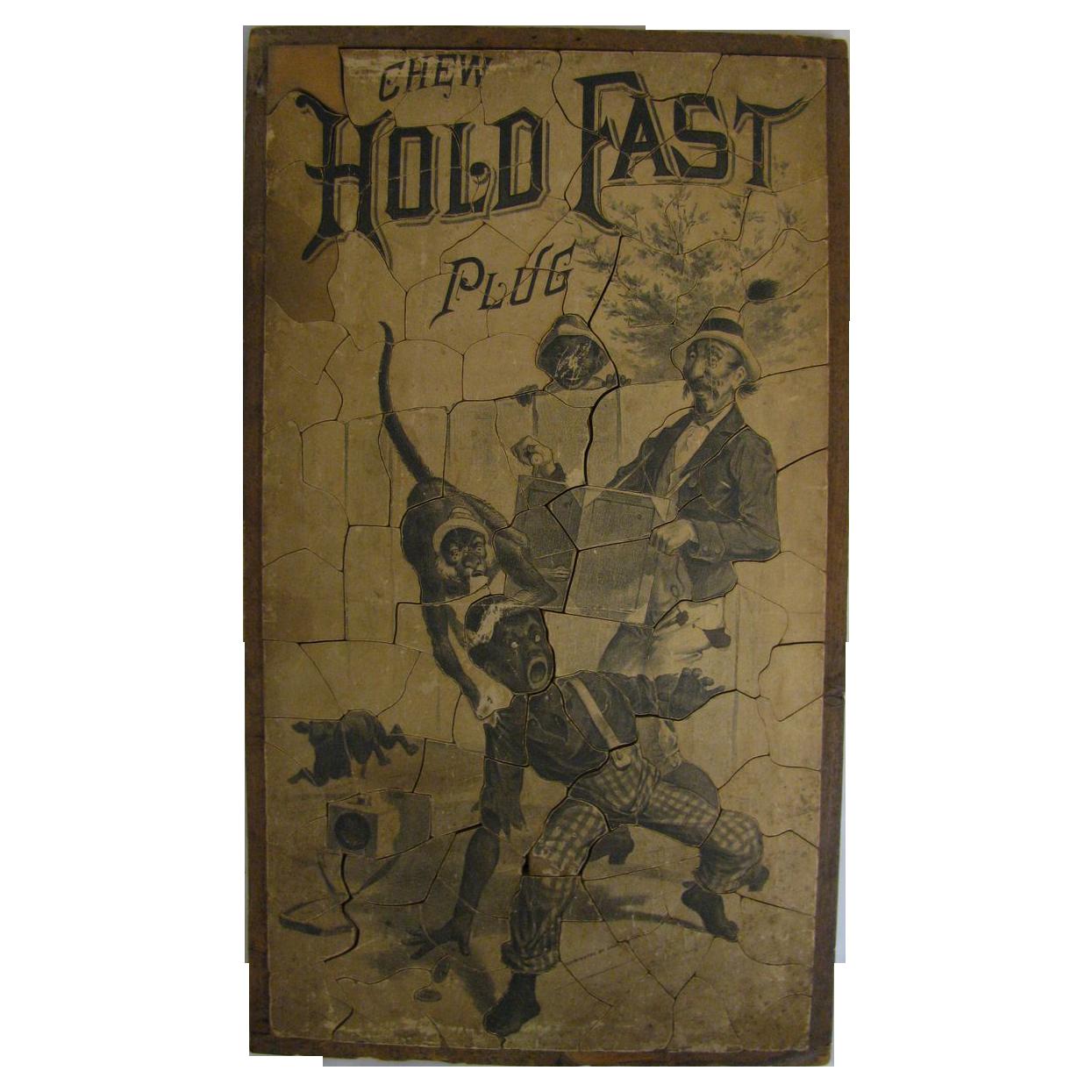 Antique Wooden Black Americana Tobacco Advertising Puzzle