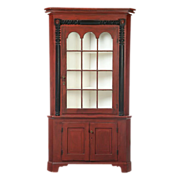 Antique Painted Corner Cupboard