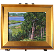 SALE Afternoon-Buzzards Bay, MA-Framed 11 X 14 Original Oil Painting by L. Warner
