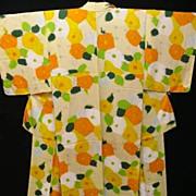 Art Deco Pure Silk Floral Kimono c1925