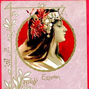 Antique Art Nouveau 'Egypten'  French Postcard c1900