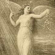 Rare Antique French Lithograph 'Immortalite' L'Estampe Moderne 1898.