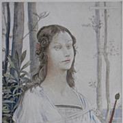 Rare Antique French Lithograph 'Salome' L'Estampe Moderne 1898