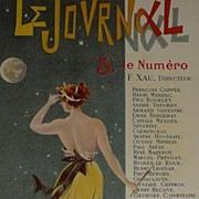 Original Signed French Lithograph 'Le Journal' Les Maitres de L'Affiche 1898.