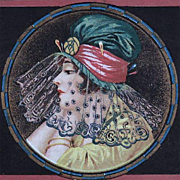 Stunning Art Deco Italian Lithographic Postcard c1920.