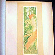SALE Original Signed French Lithograph 'Renouveau' L'Estampe Moderne Art Nouveau 1897.