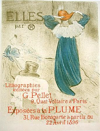 French Stone Lithograph 'Elles' by Toulouse-Lautrec 1930