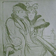 SALE Toulouse-Lautrec Lithograph~Limited Edition 1927 Sheet Music Cover