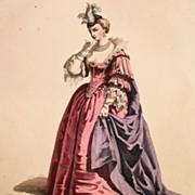 Antique Signed  French Theatrical Engraving 'Les Amants Magnifique' c1850