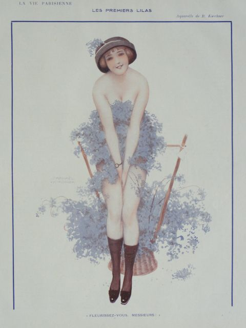Original Art Deco French Magazine Illustration..signed Kirchner..Gorgeous!