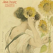 French 'Gala Peter' Advertising Postcard 'Le Soleil'  1904.