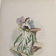 Original Signed Grandville French Engraving 'Pensee' 1867.