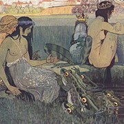 German Artist ' Mermaid and Frog by a Pond' RARE Postcard